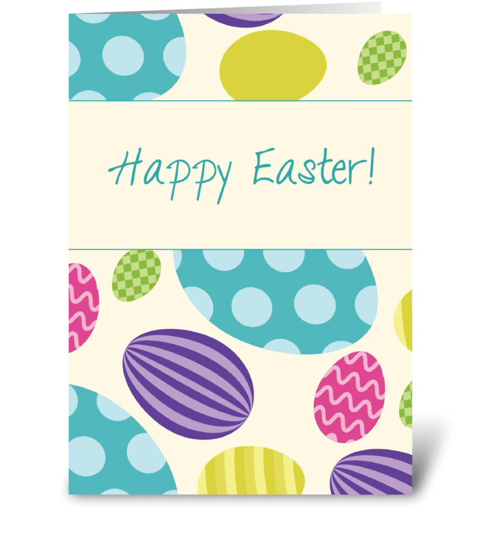 Easter Colorful Eggs greeting card