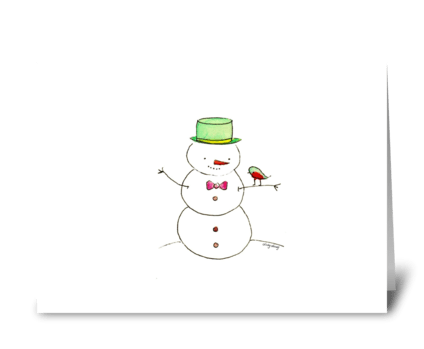 A Sweet Snowman greeting card