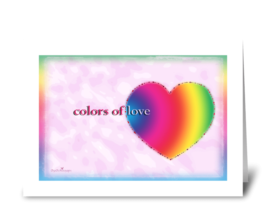 Colors of love greeting card