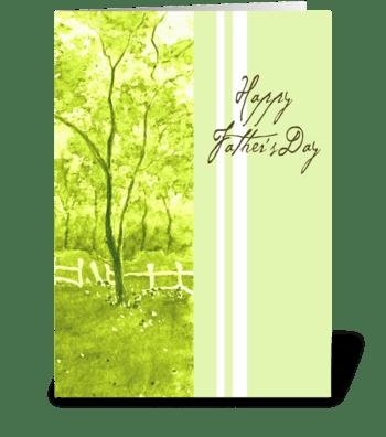 Peaceful Green greeting card