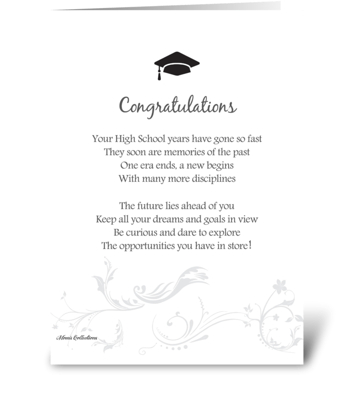Poetry Graduation greeting card