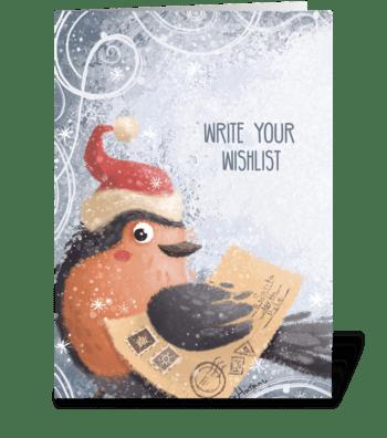 Сhristmas wish list  greeting card