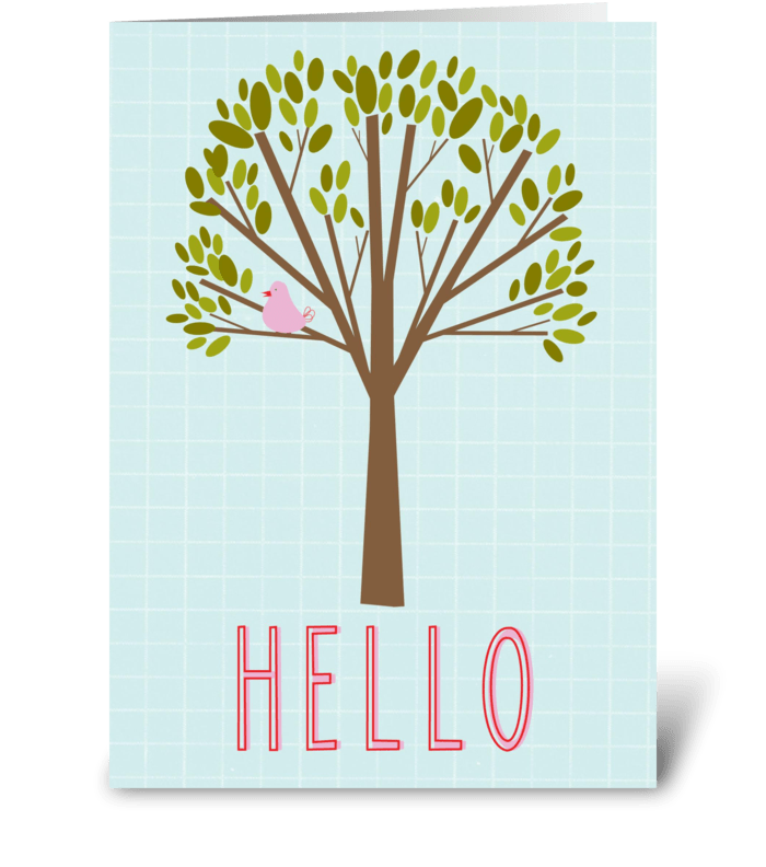H E L L O greeting card