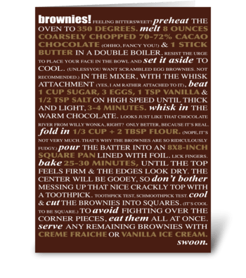 Bakeable Greetings: Brownies greeting card