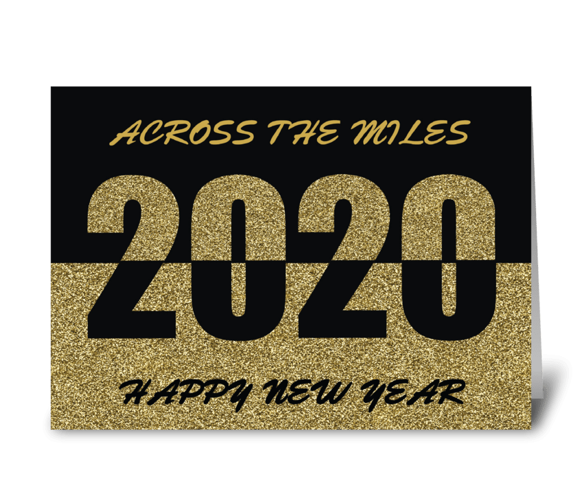 Across the Miles 2020 Happy New Year greeting card