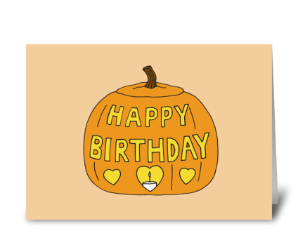 Halloween Birthday greeting card
