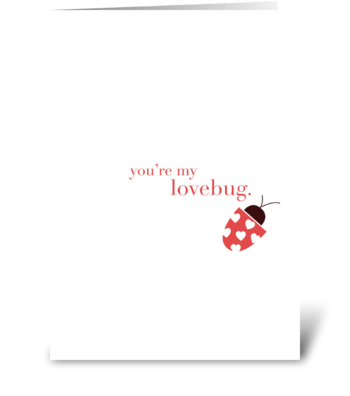Lovebug greeting card