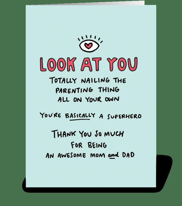 Single Parent greeting card