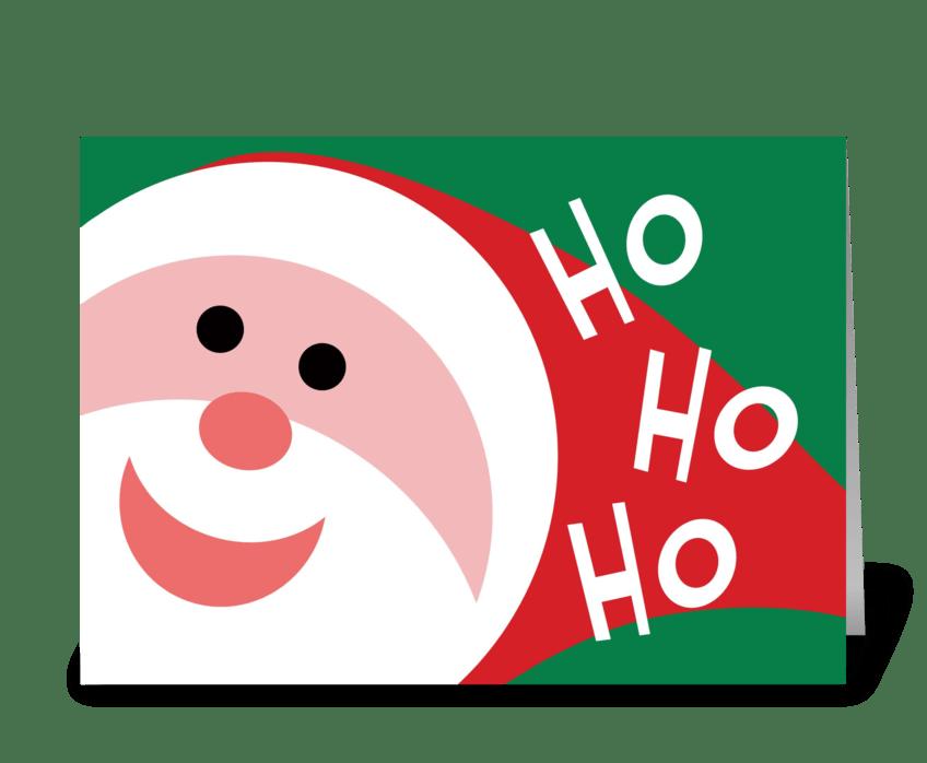 Ho Ho Ho greeting card
