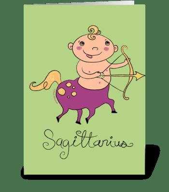 Little Sagittarius greeting card