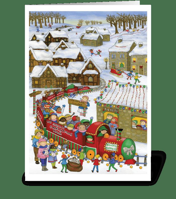 Santa's Express greeting card