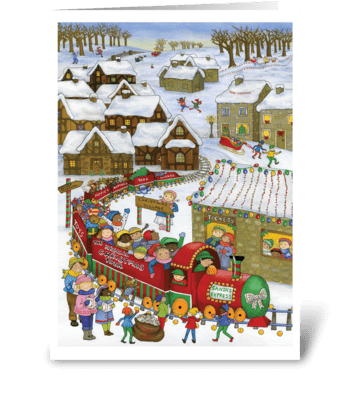 Santa's Express greeting card