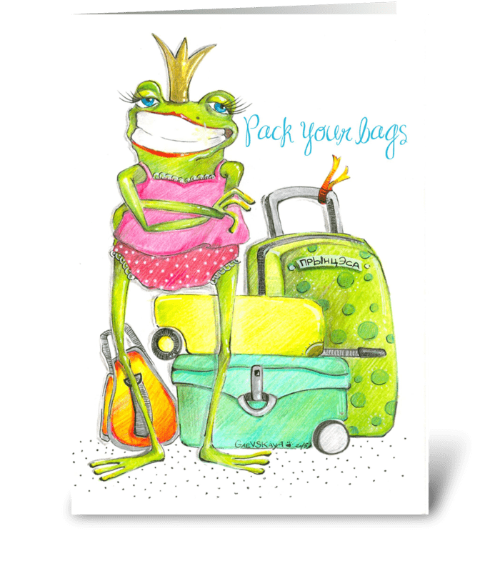 pack your bags greeting card