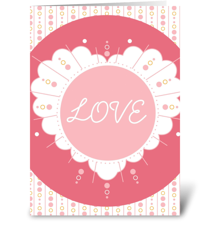 Scalloped Love greeting card