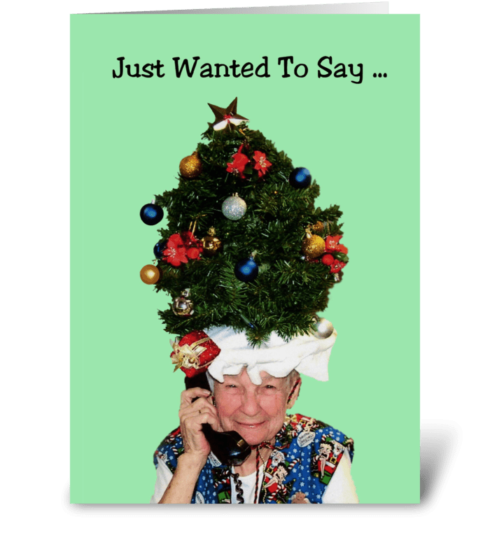 Christmas Tree Hat greeting card