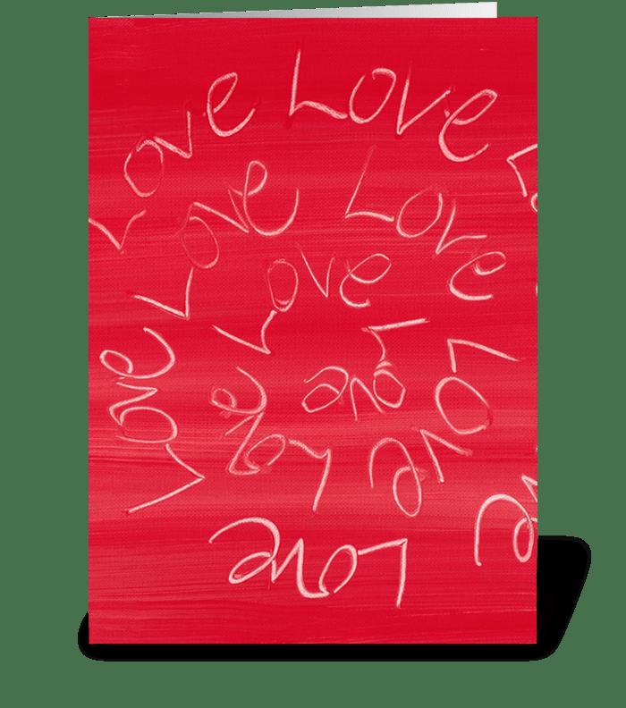 Love, Love, Love Full greeting card