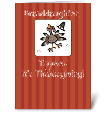 Granddaughter, Thanksgiving Turkey greeting card