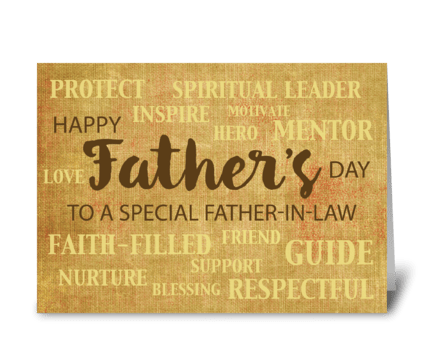 Father-in-Law Religious Father's Day greeting card