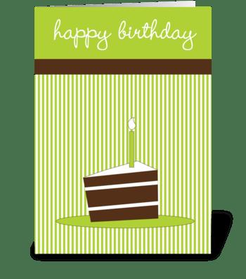 Cake slice greeting card