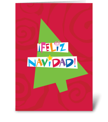 Merry Christmas (Spanish) greeting card
