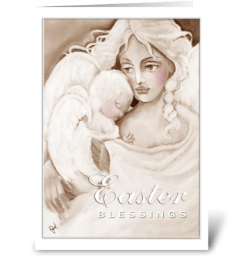 Easter Angels, Easter Blessings greeting card
