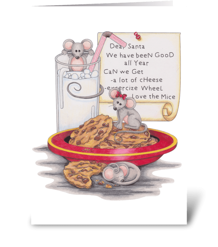 Merry Christmouse! greeting card