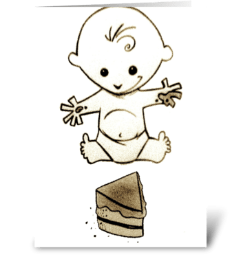 Baby's 1st Birthday/cake! greeting card