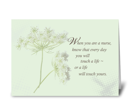 Nurses Day Wildflower greeting card