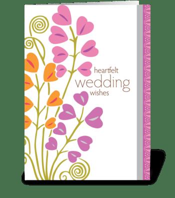 heartfelt wedding wishes greeting card