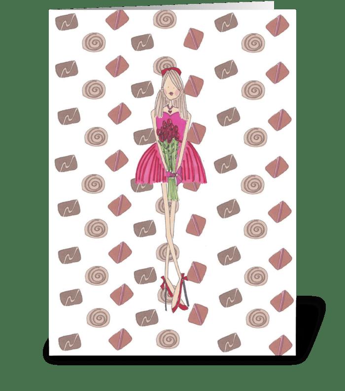 Rosie Girl greeting card