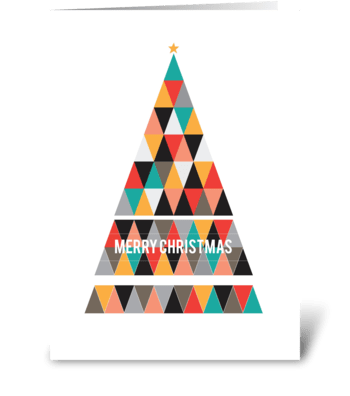 Christmas Tree Card greeting card