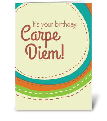 Carpe Cake greeting card