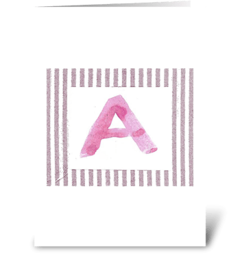 A - Baby Girl  greeting card
