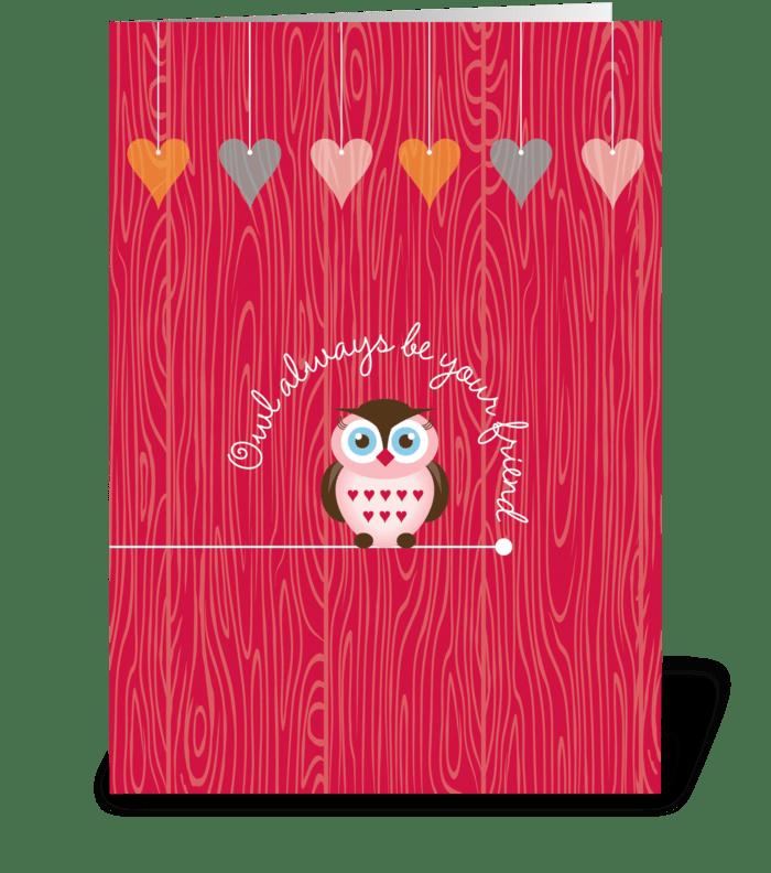 Owl Friends greeting card