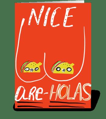 Nice Are-Holas greeting card