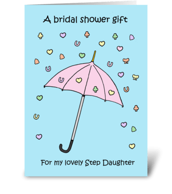 Bridal Shower Gift for Step Daughter. greeting card