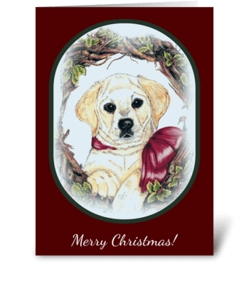 """Christmas Puppy"" greeting card"