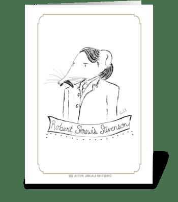 The Author Animalia Collection: Shrew greeting card