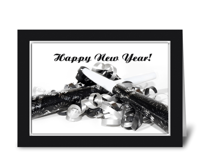 New Year Noisemakers greeting card