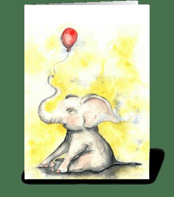 Elephant Celebration greeting card
