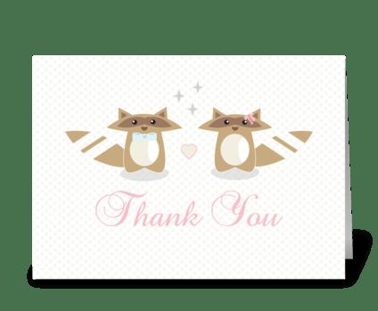 Wedding Thank You Card greeting card
