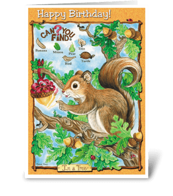Child's Birthday Card greeting card