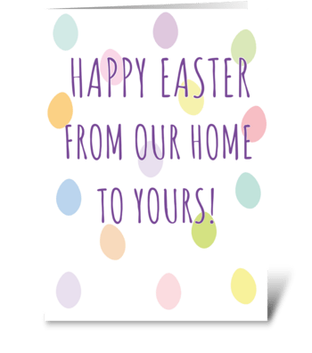 116 Happy Easter Card greeting card