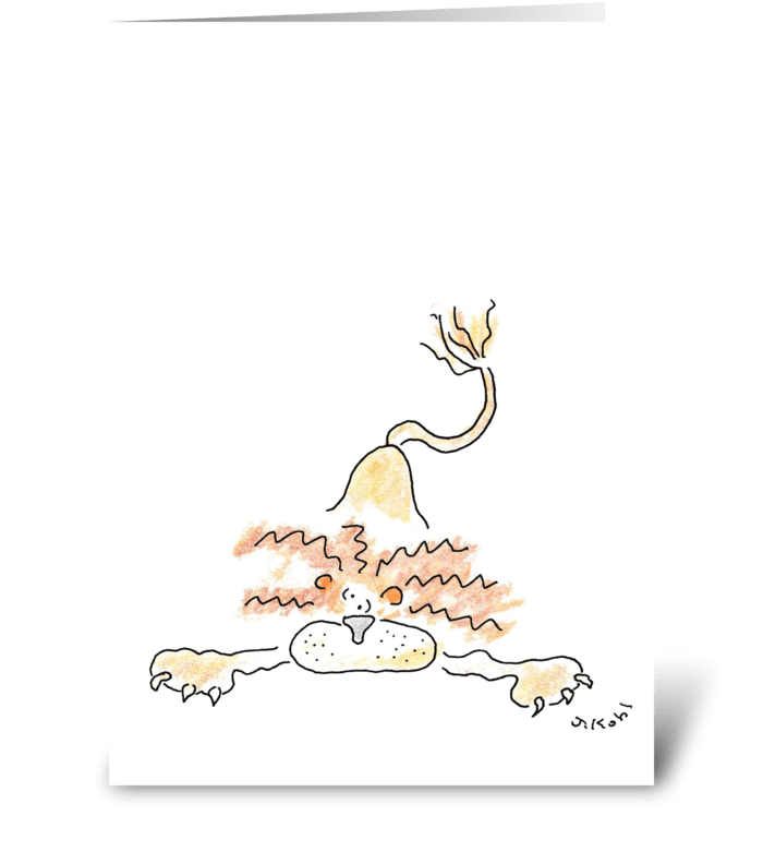 Drop a Lion greeting card