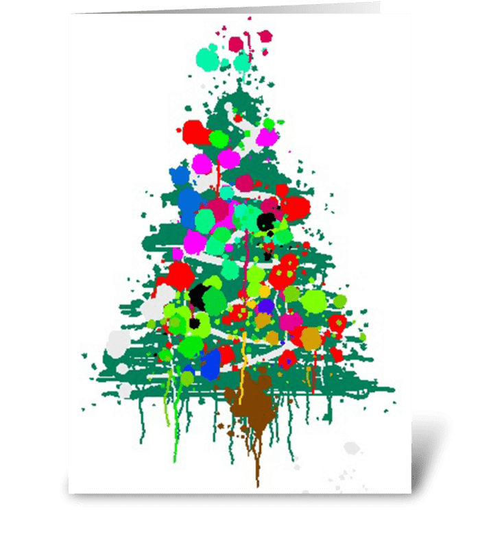 Christmas Tree Explosion greeting card