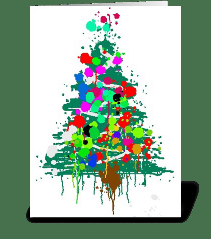 Christmas Tree Explosion greeting card