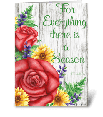 There is a Season greeting card