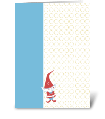 Gnome Junior greeting card