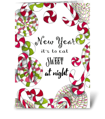 Sweet New Year greeting card