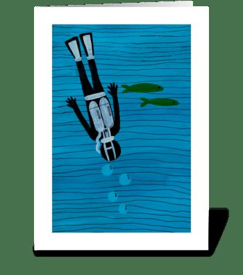 Scuba Diver  greeting card